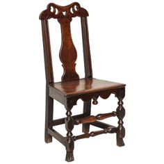 Welsh Queen Anne Folk Art Side Chair | From a unique collection of antique and modern side chairs at http://www.1stdibs.com/furniture/seating/side-chairs/