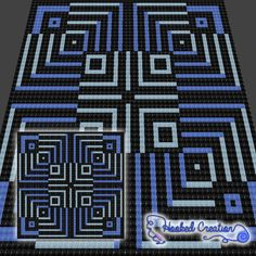 Stairway to nowhere c2c twin sized blanket crochet pattern twin optical fate c2c throw sized blanket crochet pattern dt1010fo
