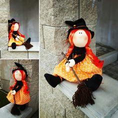 My new handmade doll - Halloween Witch ❤