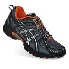 ASICS running shoes at Kohl's - Shop our selection of men's athletic shoes, including these ASICS GEL-Venture 3 trail running shoes, at Kohl's. Best Hiking Shoes, Best Trail Running Shoes, Asics Running Shoes, Trail Shoes, Running Shoes For Men, Best Sneakers, Sneakers Fashion, Fashion Shoes, New Shoes
