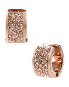 Michael Kors Pave Huggie Earrings, Rose Golden - Neiman Marcus
