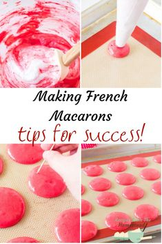 Want to learn the secrets of making French macarons? I'll show you some great tips to get you started and be successful! Get started today! French Macarons Recipe, French Macaroons, Macaron Recipe, Macaron Flavors, Real Food Recipes, Cookie Recipes, Fudge Recipes, Easy Appetizer Recipes, Easy Recipes