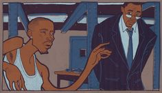 Avon Barksdale and Stringer Bell - The Wire Avon Barksdale, Gangster Movies, Idris Elba, Film Books, What Goes On, Tennis Players, Movies Showing, Movie Tv, Tv Series