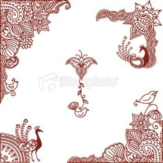 mendhi birds | Mehndi Birds Royalty Free Stock Vector Art Illustration