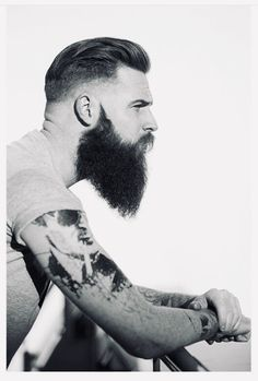 Great Beards, Awesome Beards, Beard Styles For Men, Hair And Beard Styles, Hipster Fashion, Mens Fashion, Beard Cuts, Latino Men, Hipster Beard