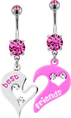 Best Friend belly button rings 'dangle' - Best Friend belly button rings 'dangle' The Effective Pictures We Offer You About Piercing no u - Belly Button Piercing Jewelry, Bellybutton Piercings, Cute Piercings, Piercing Ring, Body Piercings, Cute Belly Rings, Belly Button Rings, Cute Jewelry, Body Jewelry