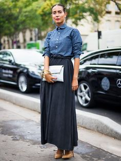 Maxi skirt rule #1 Keep it ankle length.