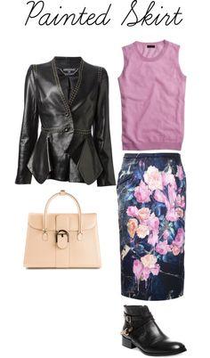 Painted skirt