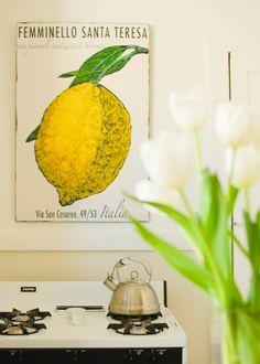 Simple Details: kitchen artwork...
