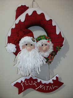 Natal enfeite de porta by Marlise2009, via Flickr