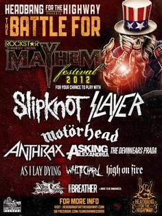 The Mayhem Festival.. I am proud of my love! But I should have not gone in the PIT!! BAD IDEA!!!!