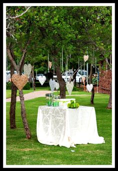 Ivory and green Bushveld Wedding          -Best Wishes Tree