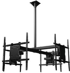 """View from four sides with this quad ceiling mount bracket kit that fits Samsung UN55JS8500FXZA 55"""" LED HDTV televisions. Included in this quad mounting kit is the universal screen adapter, 3'-5' adjustable extension column and structural ceiling adapter for mounting on 16"""" joist centers. Continuous tilt of 20° forward, 360° rotation. Pin-locking pre-set tilt positions at 5º, 10º, 15º and 20º. Product Code: CRIM-QUAD-UN55JS8500FXZA"""