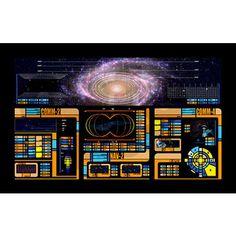 Star Trek LCARS LARGE 38.5in x 24.5in Wall Peel on CafePress.com