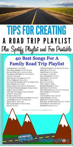 "29 of the Best Road Trip Songs to Blast in the Car Road trips and music go together like kids and the phrase ""are we there yet"". Check out our list of the best road trip songs you need on your playlist! Best Road Trip Songs, Road Trip Playlist, Song Playlist, Playlist Ideas, Road Trip With Kids, Family Road Trips, Travel With Kids, Family Travel, Road Trip Musik"