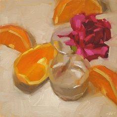 """Four Slice Flower"" - Original Fine Art for Sale - © Carol Marine"