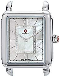 Michele Women s  Deco Head  Swiss Quartz Stainless Steel Casual Watch,  Color White (Model  MW06I00A0963) 55a7859a35