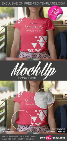 Friends! Have a look at this Female T shirt MockUp PSD Template! It's suitable for showcasing your ideas and creating the presentation in an impressive and professional way! The mockup is fully layered and well organized, so you can easily customize according to your needs and get the desired result in no time. Let your ideas be successful!