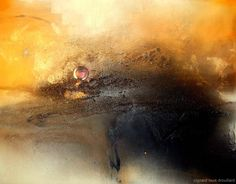 "mixed-media painting  'GENESIS' 52X72X3"" c/girard louis drouillard"