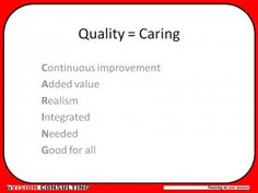 Caring - another unusual take on #quality.