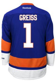 134c79a8f New York Islanders Thomas GREISS  1 Official Home Reebok Premier Replica  Adult N CoolHockey. Nhl Hockey JerseysNew ...