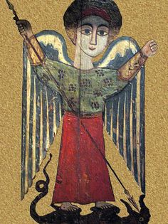 Spiritual Paintings, Angel Images, Byzantine Icons, Archangel Michael, Illuminated Manuscript, Ethiopia, Middle Ages, Folk Art, Museum