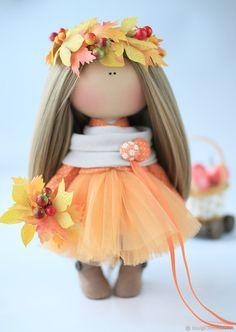 Купить Девочка Осень - рыжий, кукла, кукла в подарок, подарок девушке, кукла интерьерная
