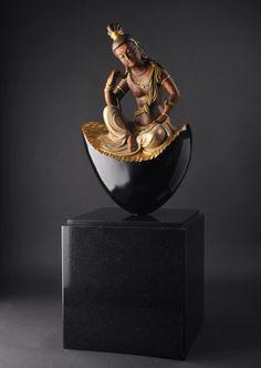 Bồ tát Buddha Peace, Buddha Art, Buddha Sculpture, Sculpture Art, Nirvana Buddhism, Altar Design, Smart Art, Guanyin, Japan Art