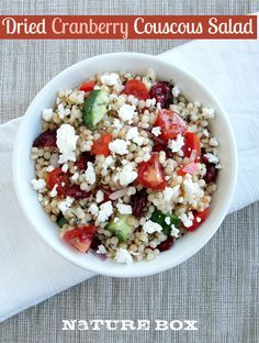 This Couscous and Cranberry Salad makes a great weekday lunch.