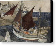 "New artwork made with love for you! - "" Boat In Harbour Brittany 1929 Canvas Print / Canvas Art by Wood Christopher "" - https://ift.tt/2u2XtKD"