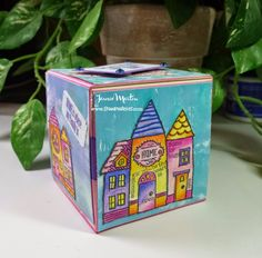 Family Home uniquely made with Jamie Martin's #cre8time using an #ArtistTradingBlock and #stampendous.