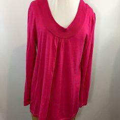 Lane Bryant Deep Scoop Pink Lightweight Sweater Women's Size 18 20 100% Cotton   | eBay