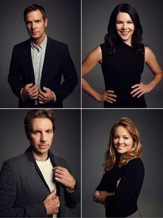 Parenthood: The 4 siblings; Adam, Sarah,Crosby & Julia Braverman (Peter Krause, Lauren Graham, Dax Shepard & Erika Christensen)