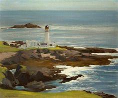 Stanley Cursiter's Fair Isle South Lighthouse (via BBC - Your Paintings - Fair Isle South Lighthouse)