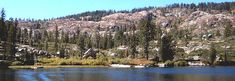 Salmon Lake  Sierra's must park and ferry in,  food on your own, cabins or tents