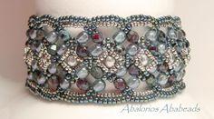 Maroon Bracelet beaded by my beading friends - Ellad2