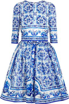 Dolce & Gabbana Printed Silk Mini Dress | #Chic Only #Glamour Always