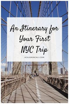 Things to do in New York City | New York Things to Do | Places to Visit in New York | NYC Itinerary | NYC Things to Do | Manhattan Sightseeing | Fun Things to Do in New York | New York City Attractions | Week in New York | What to do in New York City | Where to go in New York | New York Vacation via @acajunincali
