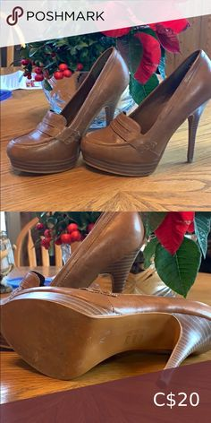 Call it Spring heels brown leather pump. Great condition only worn a few times. Call It Spring Shoes Heels Spring Heels, Plus Fashion, Fashion Tips, Fashion Trends, Leather Pumps, Pumps Heels, Times Call, Brown Leather, Peep Toe