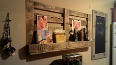 Kitchen rack and memo board.