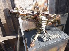 FullyAutomatic STEAMPUNK Nerf NStrike Vulcan by SteamPunkLabratory,   --Not your average Nerf gun...too cool!