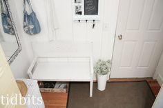 Mudroom Makeover - Tidbits