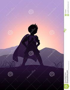 children superhero silhouette - Google Search