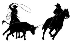 image result for cowboy roping silhouettes 4 clay templates and rh pinterest com
