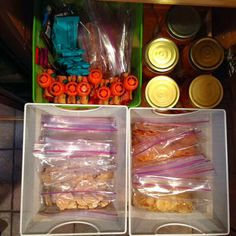 Back to School Lunches re-organized