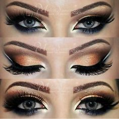 #MakeupTip: Add white shimmer or highlighter to the corners of your eyes to make them pop!