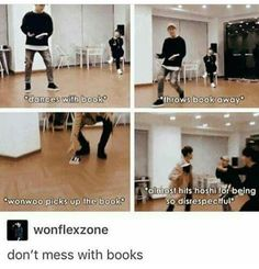 Wonwoo wnats to hit Hoshi for throwing his book Diecisiete Memes, Funny Kpop Memes, Seventeen Memes, Seventeen Wonwoo, Woozi, Jeonghan, Exo, Chanyeol, Steven Universe
