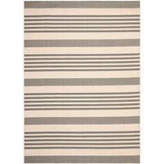 Courtyard Grey and Bone Rectangle: 8 Ft. In. x 11 Ft. 2 In. Area Rug