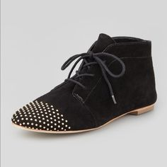 Loeffler Randall Studded Laceup Bootie These Loeffler Randall Bootie have been crafted in the finest suede. Worn only once around the house. Perfect condition. Comes with Loeffler Randall dust bag and box. Loeffler Randall Shoes Ankle Boots & Booties