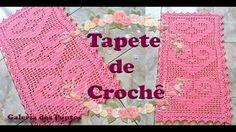 Crochê Tapete Passadeira Filet Coração Zig zag - YouTube